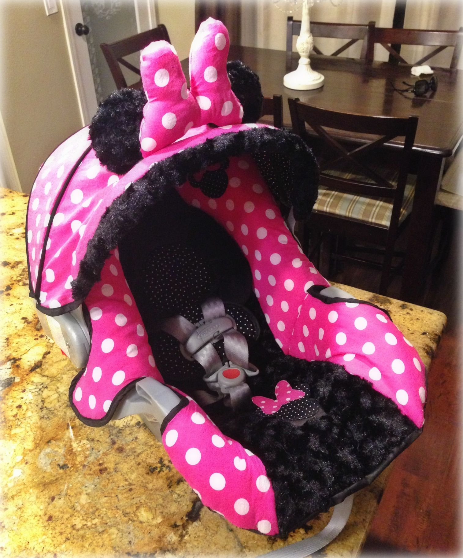 Minnie Mouse Graco Snugride 30 Custom Carseat Cover Baby Doll Car Seat Seats