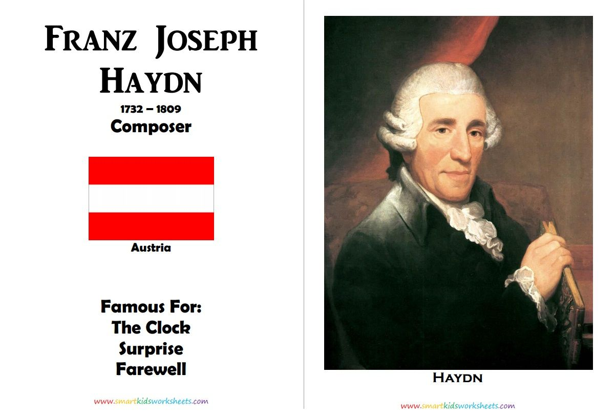 Franz Joseph Haydn Poster For Kids