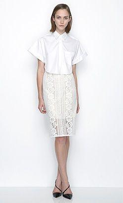 'Crop' Symbol Shirt and 'Valentine' Pencil Skirt. Email us at shop@loverthelabel.com