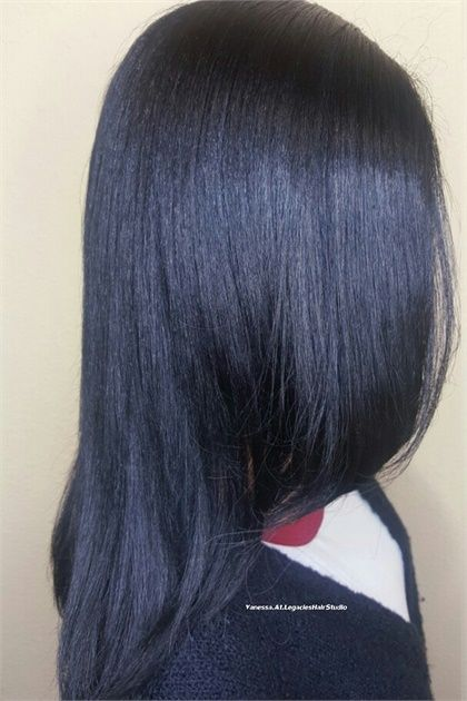 Makeover Dark And Damaged To Healthy Deep Blue Dark Blue Hair