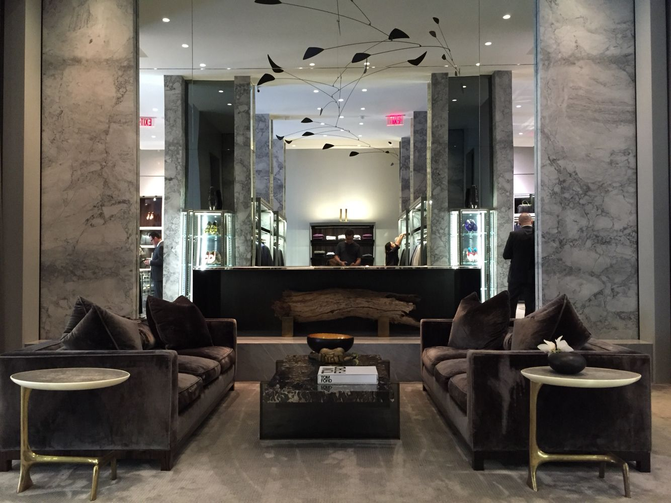 5fcca640fc30 Scala Luxury furniture at Tom Ford store in Beverly Hills.