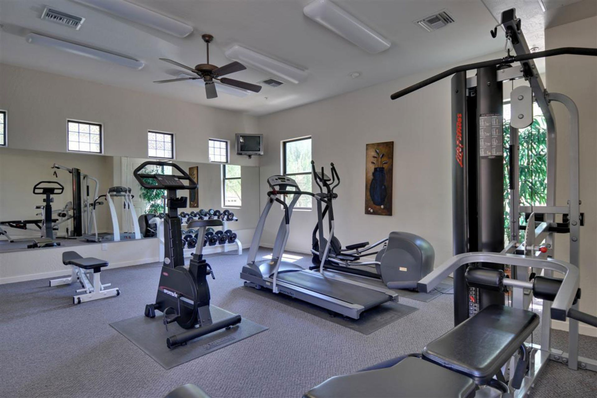 Winning interior affordable workout station home gym with