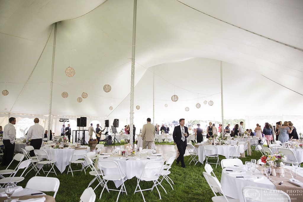 Tented Wedding Reception On Private Property Tent Provided By Michaels Party Rentals Of Ludlow