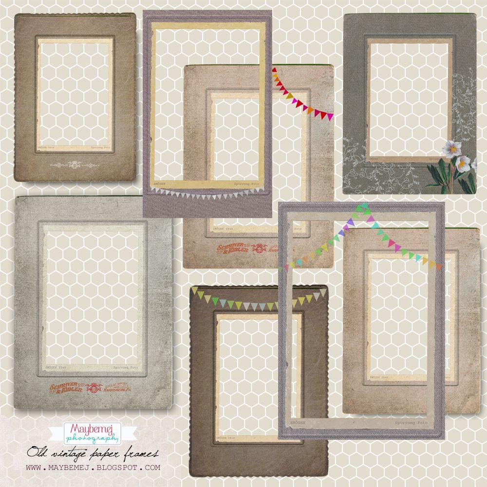 free hi resolution vintage paper frames png