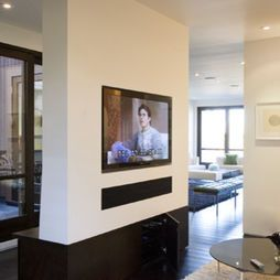 Tv Built Into Dividing Wall Knobhill House Pinterest Living
