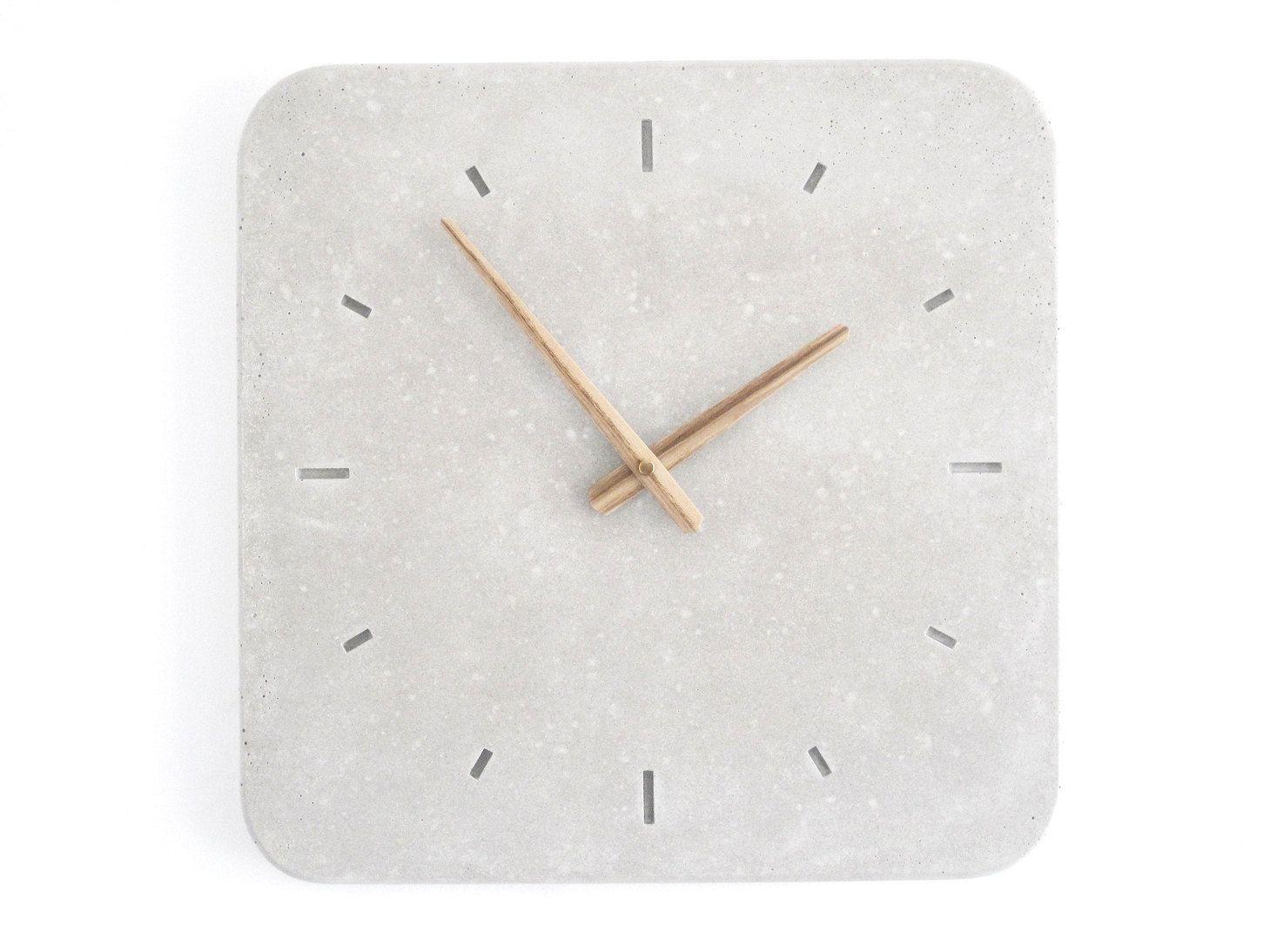 Concrete Wall Clock Wertwerke Wanduhren Wanduhr Weiss Beton Design