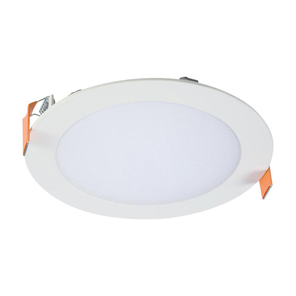 Halo Hlb 6 In White Round Integrated Led Recessed Light Direct Mount Kit With Selectable Cct 2700k 5000k No Can Needed Hlb6099fs1emwr Recessed Lighting Direct Lighting Led Recessed Lighting