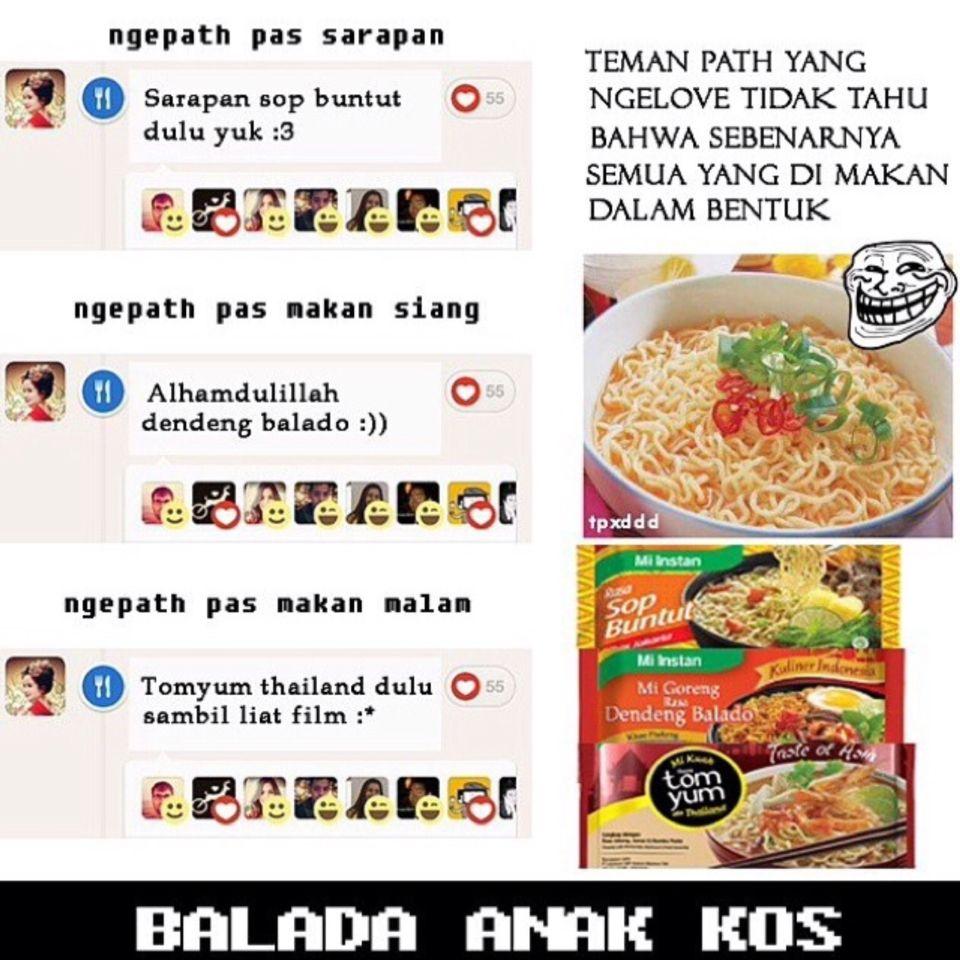 Balada Anak Kos Funny Pinterest Kos
