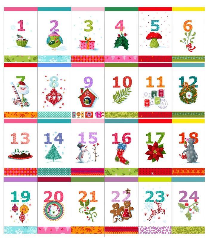 Le calendrier de l 39 avent advent calendars xmas and noel - Etiquette calendrier de l avent ...