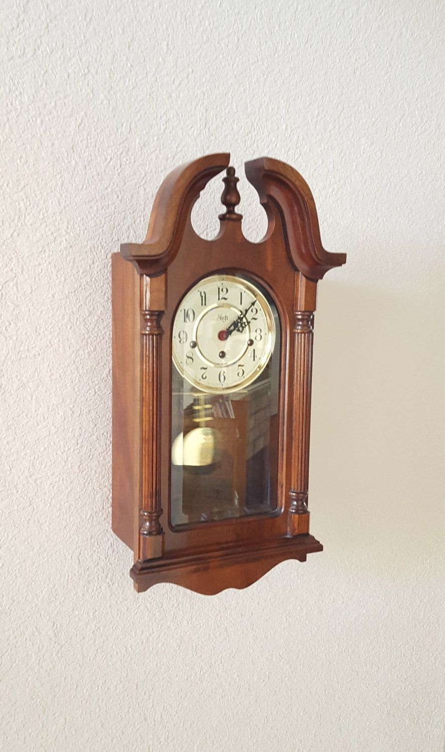 Vintage Antique Sligh Heirloom Quality Westminster Chiming Wall Clock Parlor Clock Professionally R Chiming Wall Clocks Antique Wall Clock Heirloom Quality