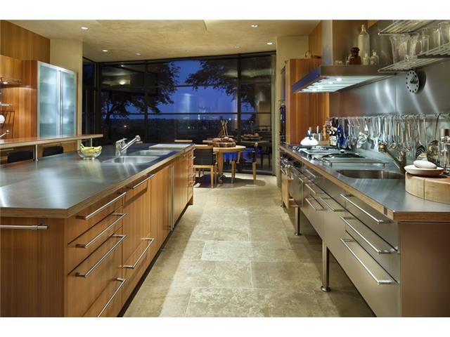 custom stainless kitchen
