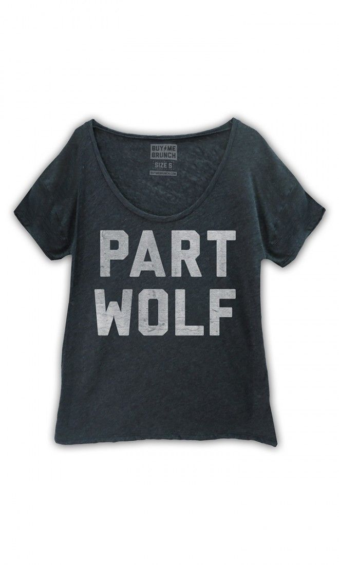 My spirit animal is a wolf. So that's why it says part wolf