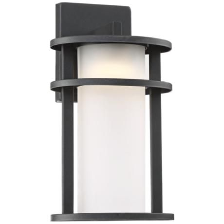 Aline 13 high black led outdoor wall light mozeypictures Image collections