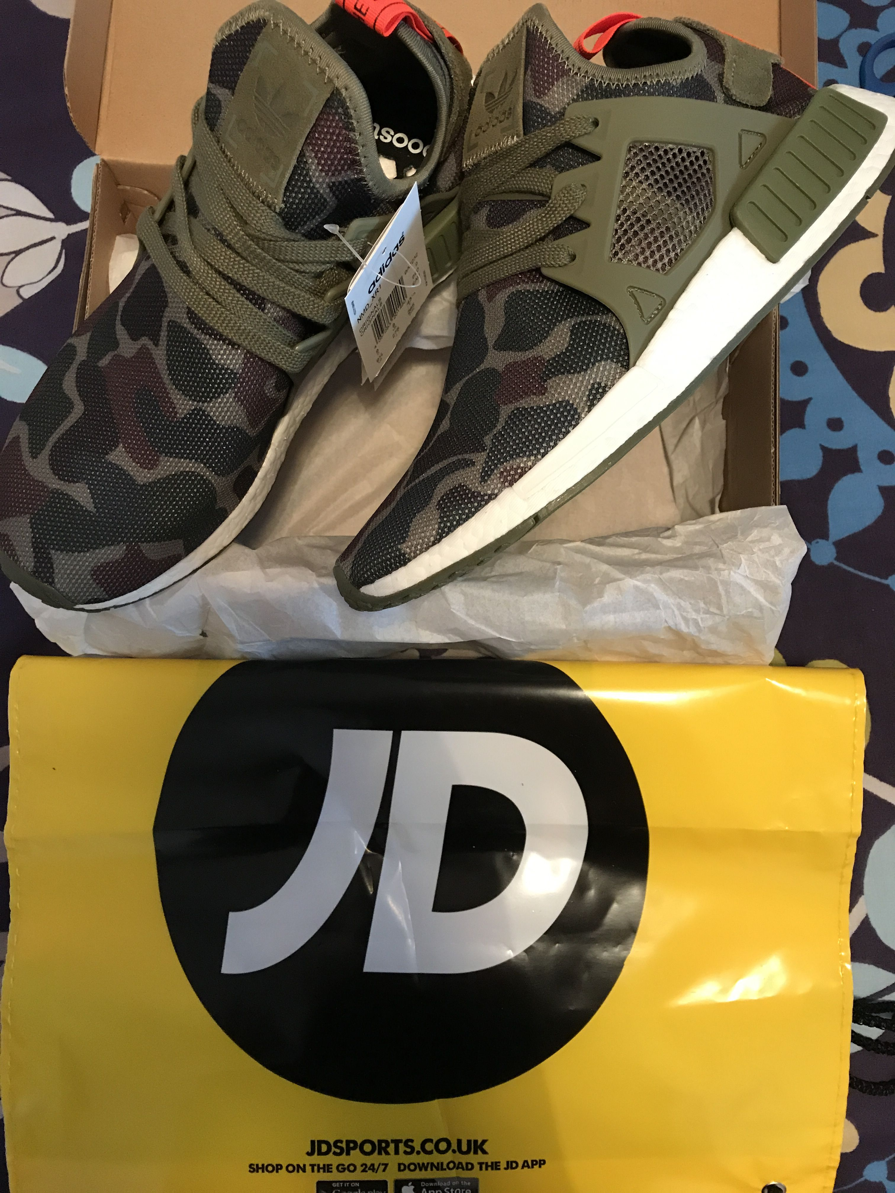 d93b878c5e682 Unboxing my Adidas Original NMD XR1 Duck Camo Olive/White delivered by JD  Sports England