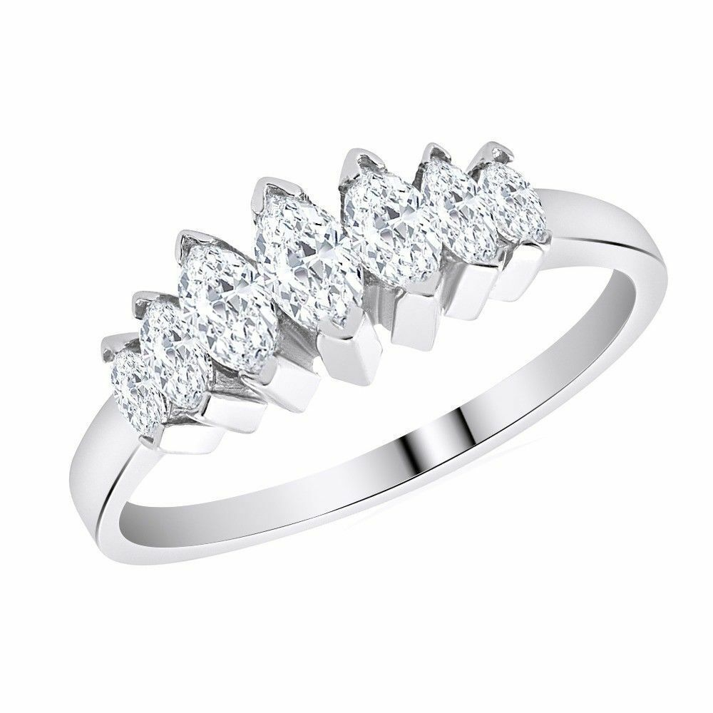 130 ct marquise dvvs1 diamond 14k in white gold over