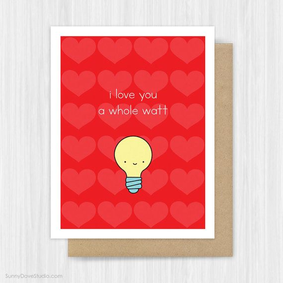 Funny Valentine Card Valentines Day Love Pun Girlfriend Boyfriend – Clever Valentines Cards