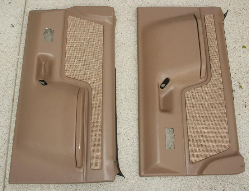 1987 1991 Ford Bronco And F Series Truck Door Panels Full Power Light Brown Ford Bronco Bronco Ford Bronco Parts