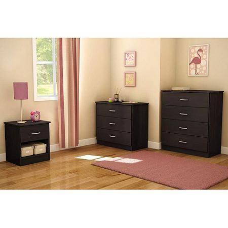 South Shore Smart Basics 3 Piece Dresser Set Chocolate Walmart
