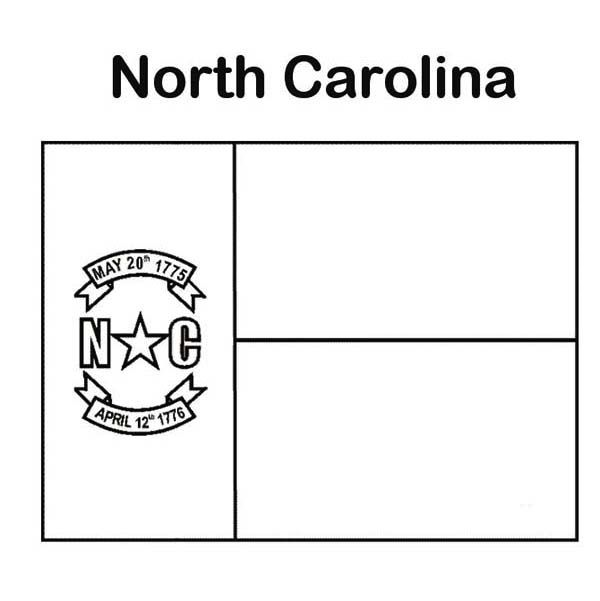State Flag State Flag Of North Carolina Coloring Page State