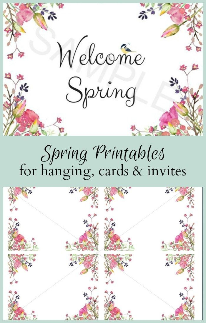 Spring Printables for Home Decor, Cards and Invitations   Cards ...
