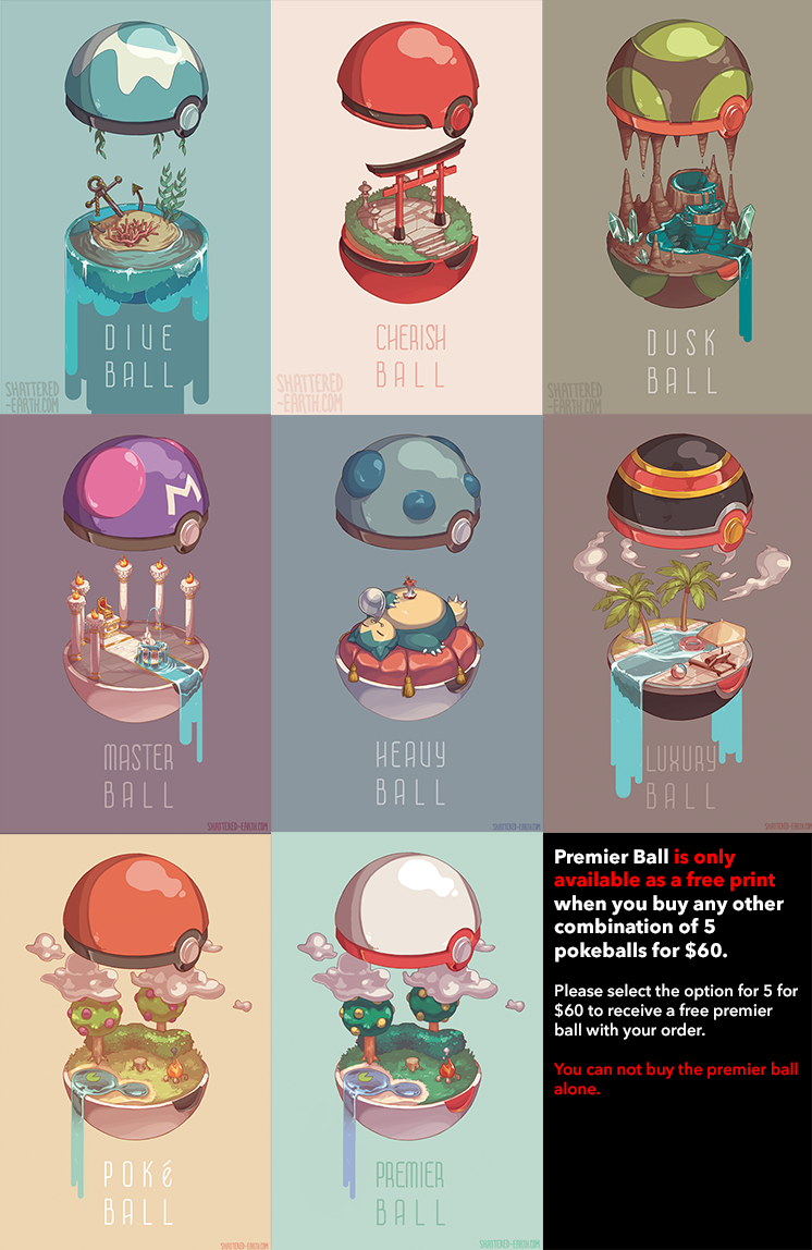 Prints Of Various Pokeball Interiors To Decorate Your Interiors This Is A Preorder Listing They Will Not Ship Till S Cute Pokemon Pokemon Pokemon Pictures