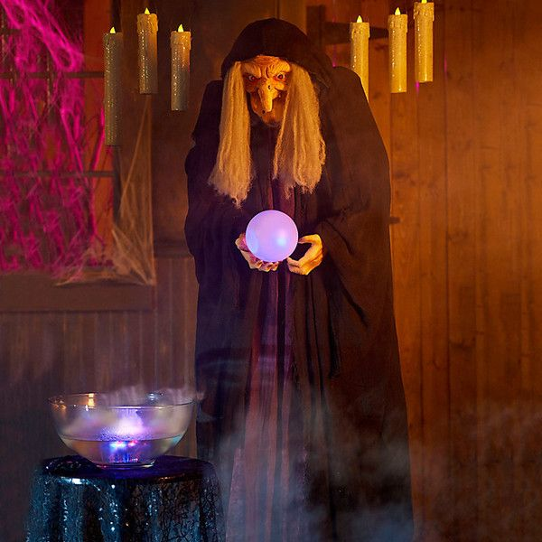 Improvements Wicked Fortune Teller Witch Halloween Decoration (500 - witch decorations
