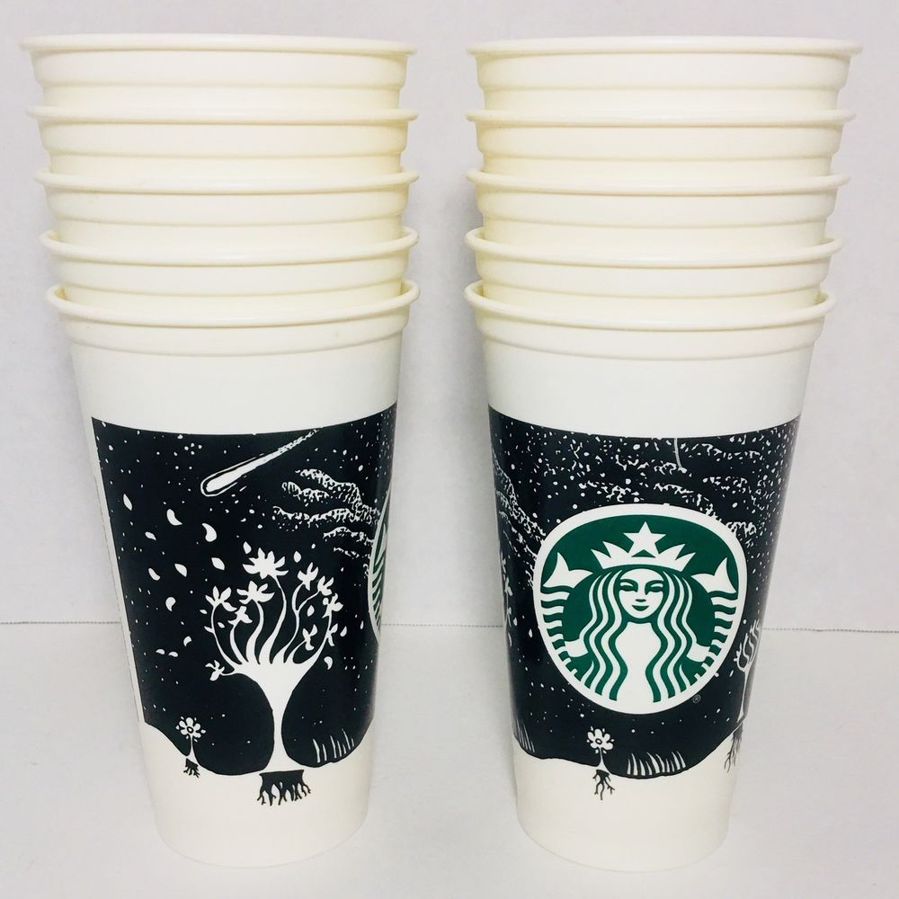 10 2012 Starbucks Night Sky 16 oz Reusable Plastic
