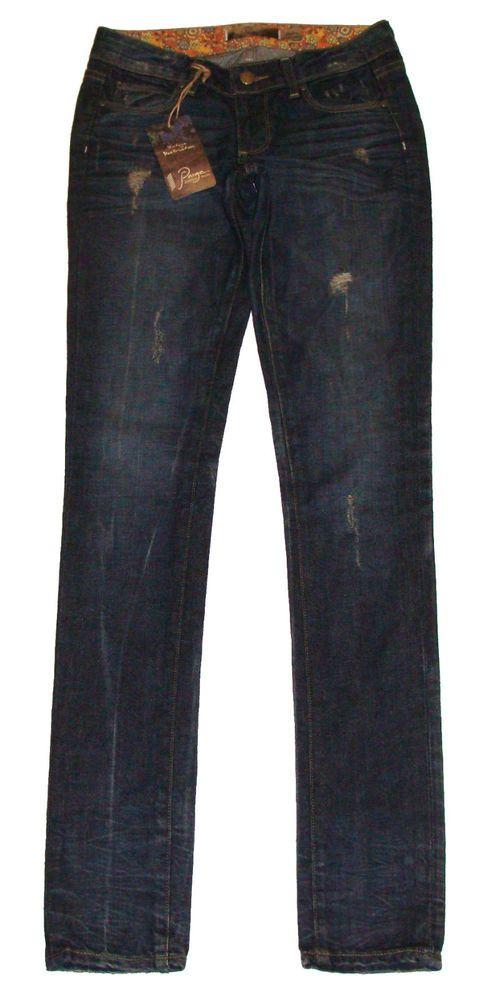 Paige Denim Womens Jeans SKYLINE Skinny Leg Harlow Deconstruction Sz 23 NEW $199 #PaigeDenim #SlimSkinny
