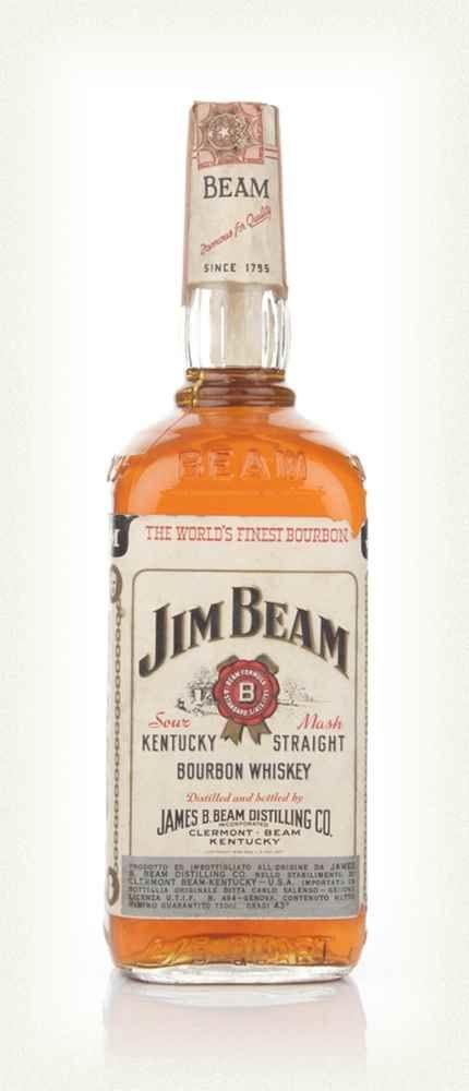 Jim Beam White Label 1966 Jim Beam Whisky Packaging Beams