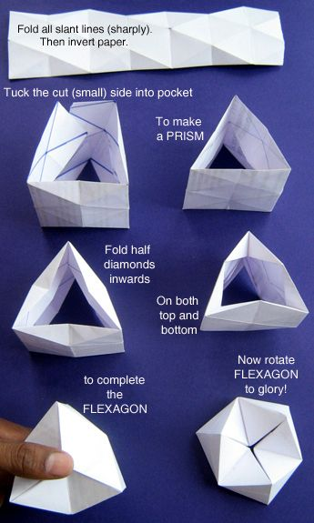 Flexagon Toys From Trash Paper Crafts Origami Origami Art