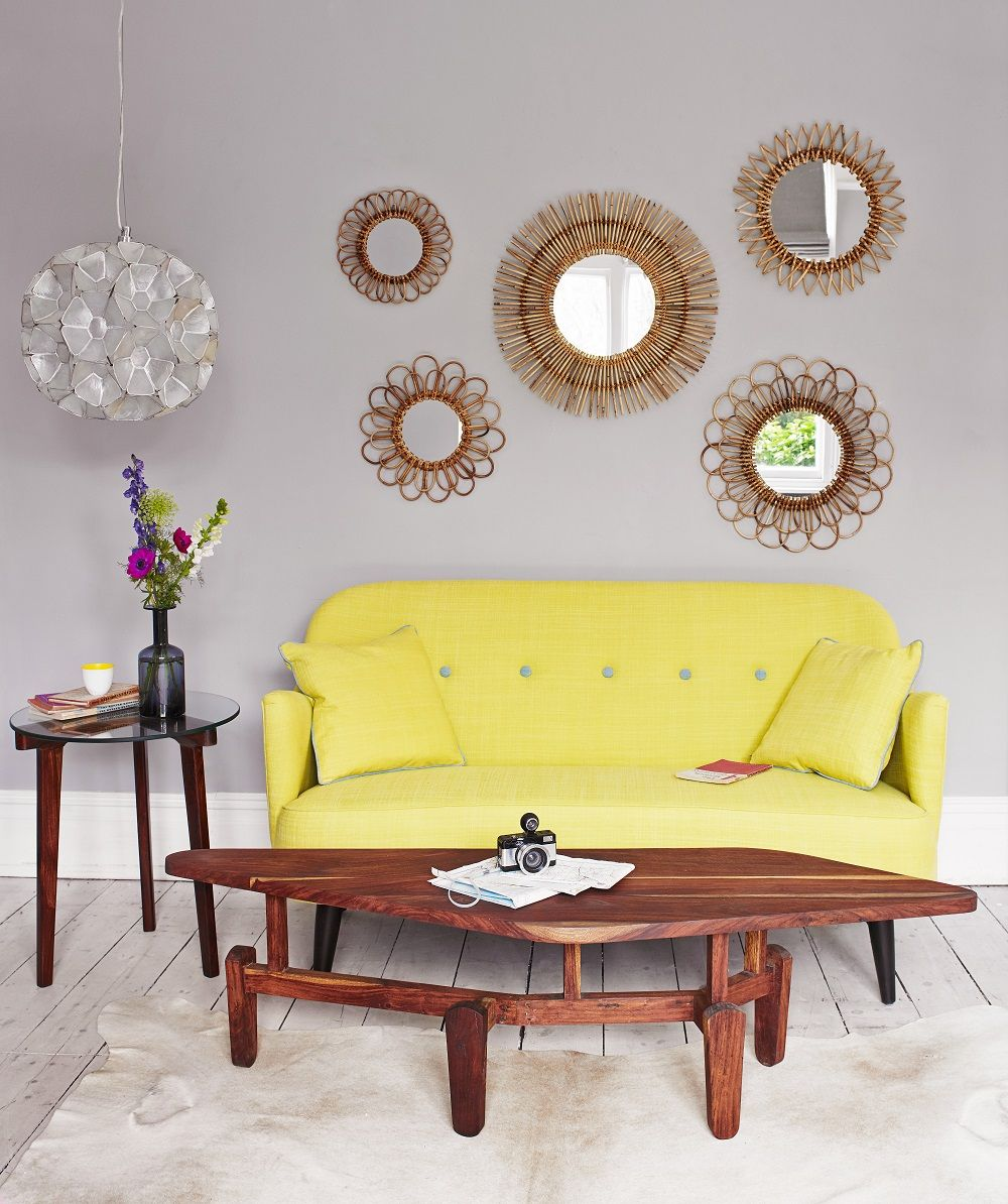 Della Sofa from Graham and Green. We love this pop of colour for a ...