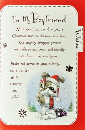 Merry Christmas Wishes Card For Boyfriend