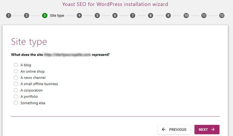 Yoast Seo Site Type Tema Wordpress Blog Website