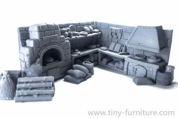 The village bakery kit UNPAINTED  Miniature by TabletopFurniture
