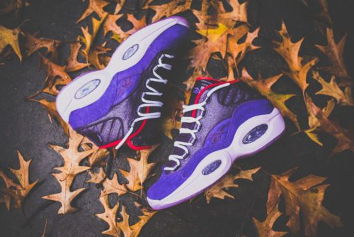 e11745ff2e45 Reebok Question Mid Ghost of Christmas V61429 Allen Iverson Purple shaq  answer