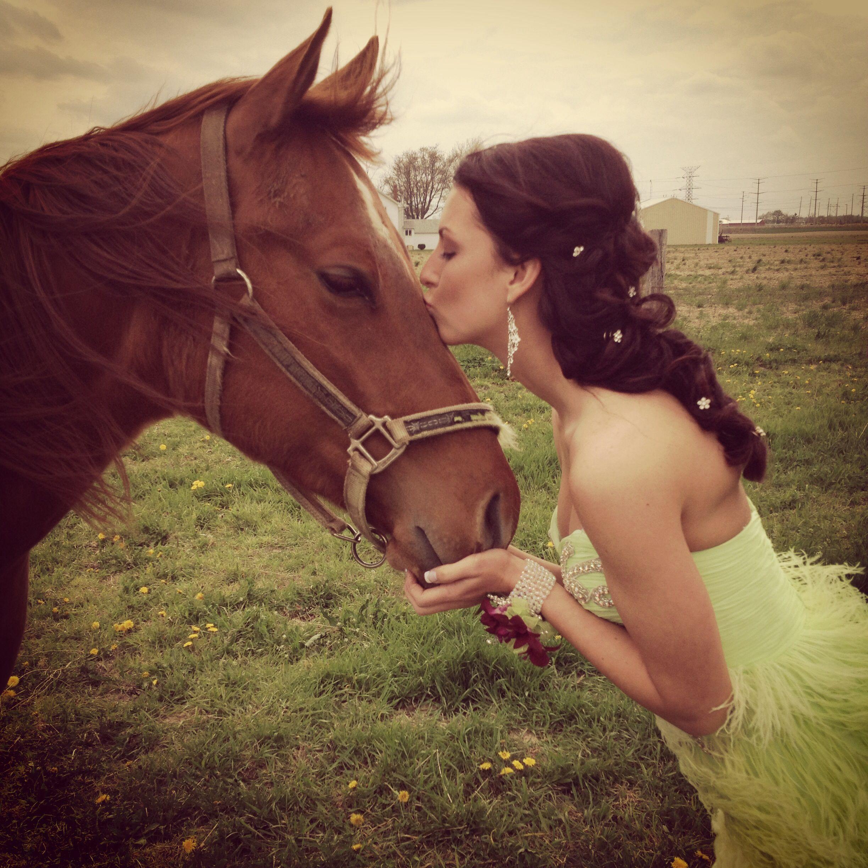 Prom hair updo wedding formal dance cute curls hair happy horse