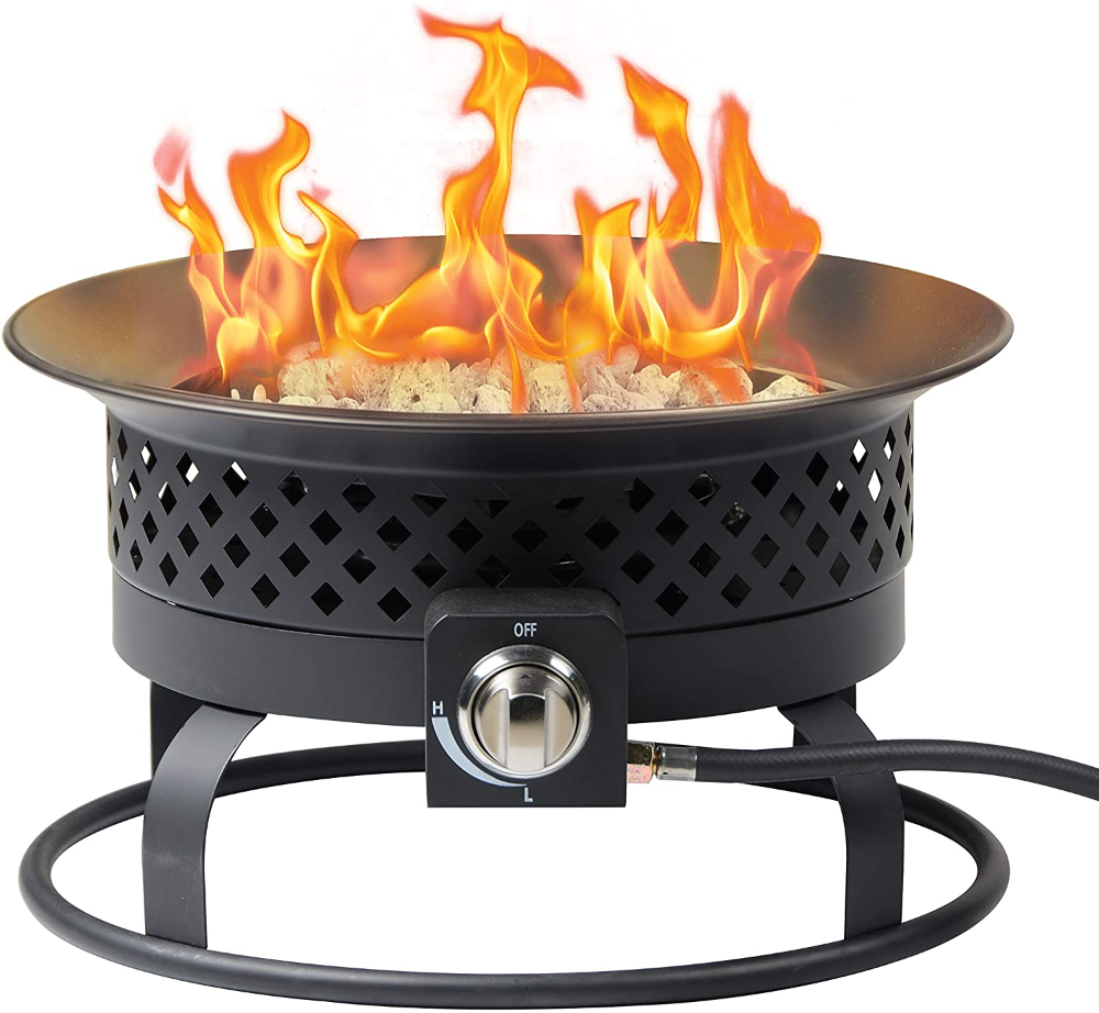 Amazon Com Bond Manufacturing 67805a Portable 54 000 Btu Aurora Bowl For Camping Backyard Tailgating And In 2020 Gas Fire Pits Outdoor Gas Firepit Cool Fire Pits