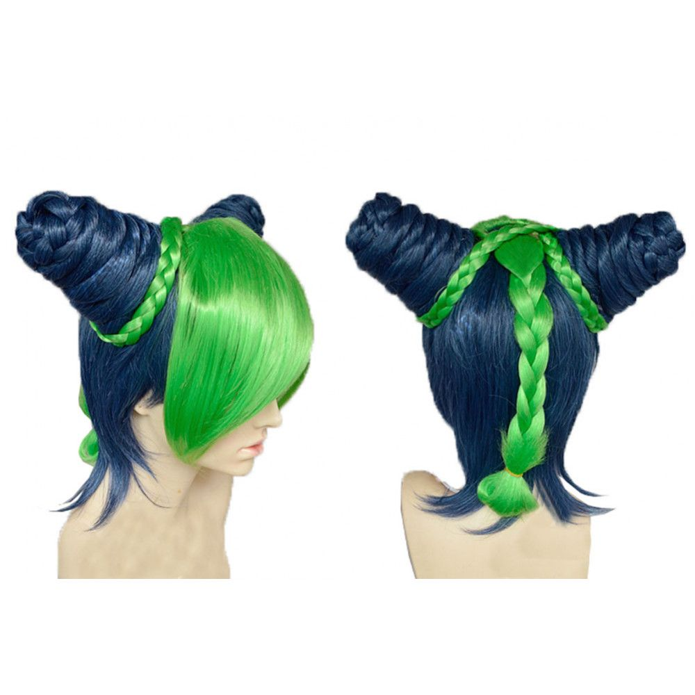 Photo of Jolyne Kujo Wig JOJO's Bizarre Adventure Jolyne Short Anime Wig with Braids Buns…