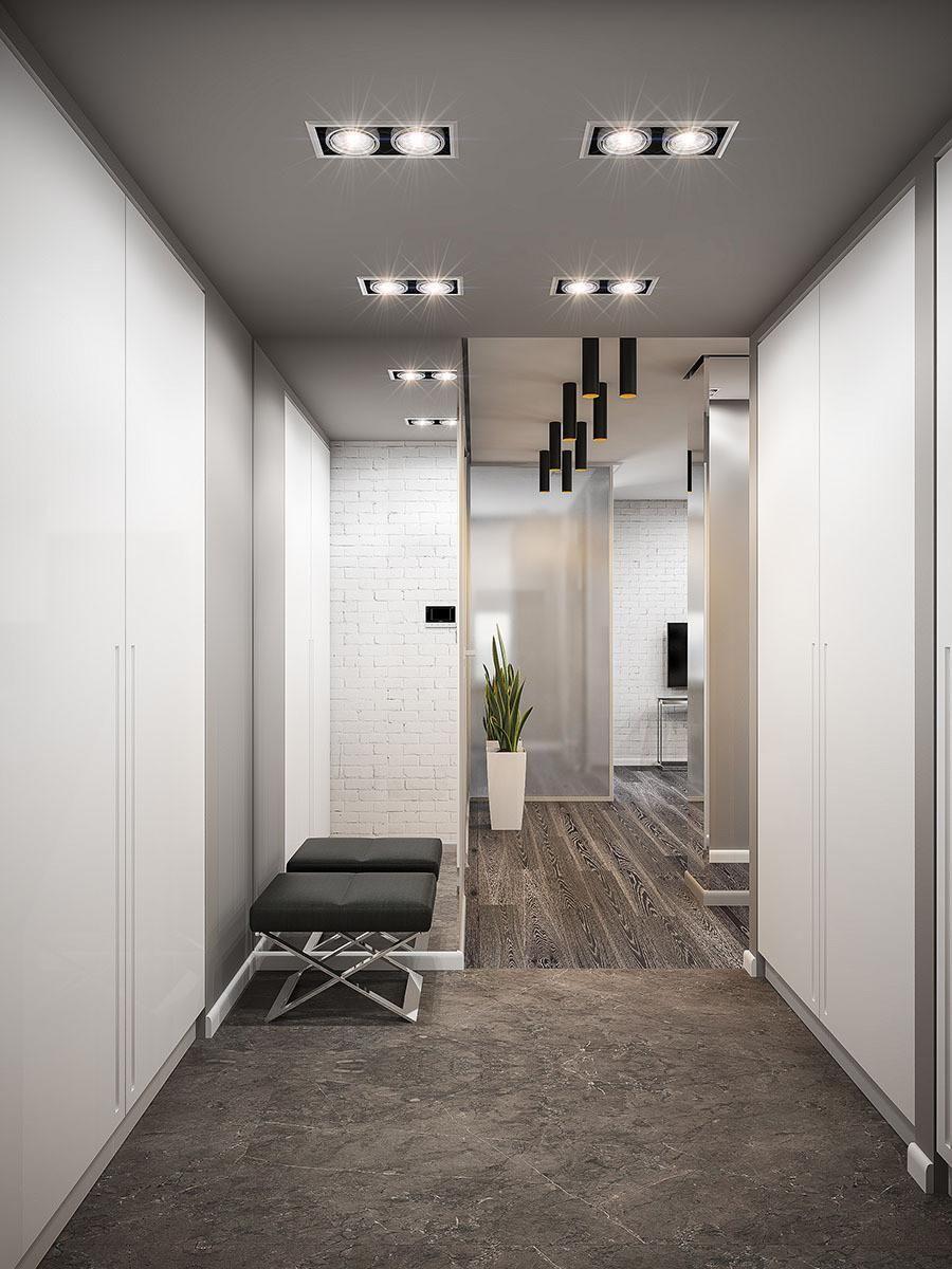 Couloir gris et blanc :idées déco et conseils pour un ...