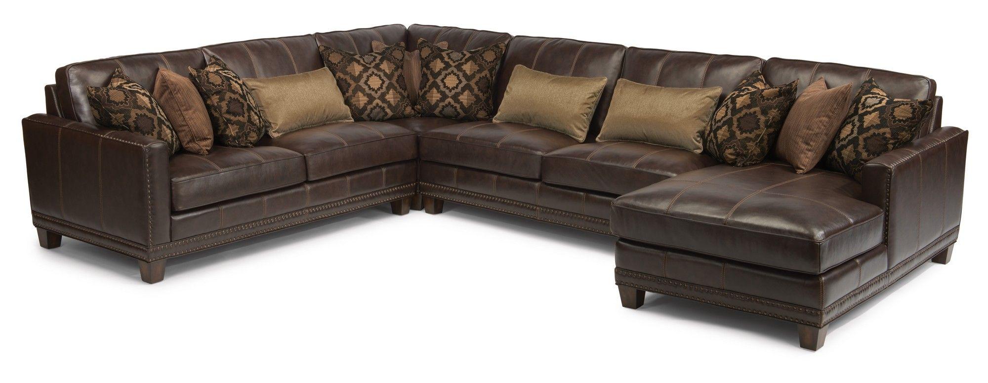 FlexsteelLeather Sectional Flexsteel furniture, Living