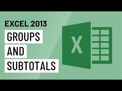 Excel 2013 Groups and Subtotals - YouTube MS Office Pinterest