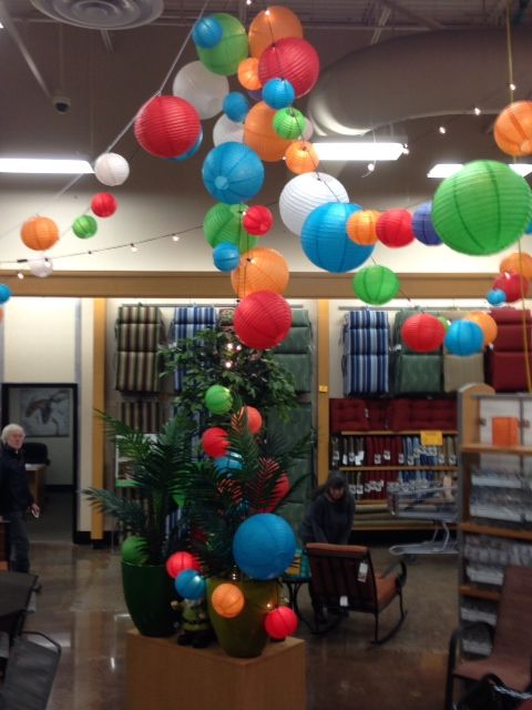 Paper Lanterns Decoration In The Outdoor Living Section Of Fred Meyer Portland Oregon From Www Themonkeyking
