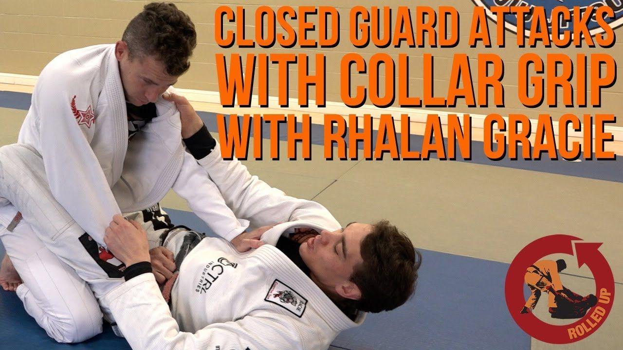 Closed guard attacks with collar grip bonus technique 2