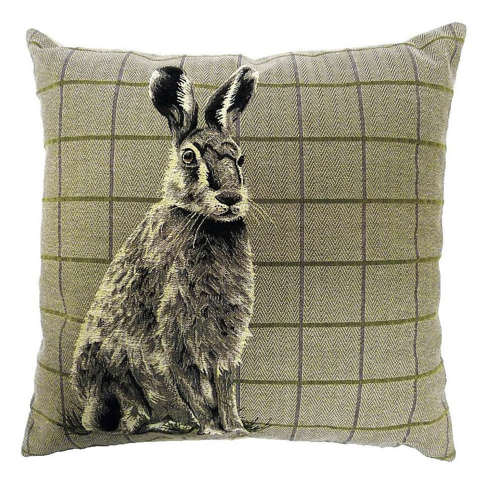 Hare tapestry cushion tapestry grey living rooms and living rooms