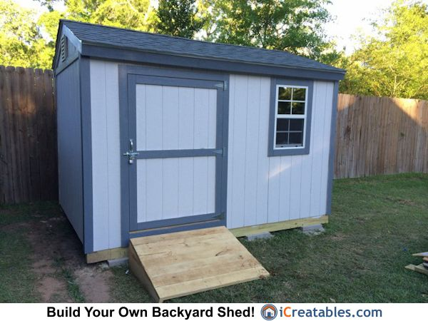 8x12 Backyard Shed Plans From Icreatables Com Build Your Own