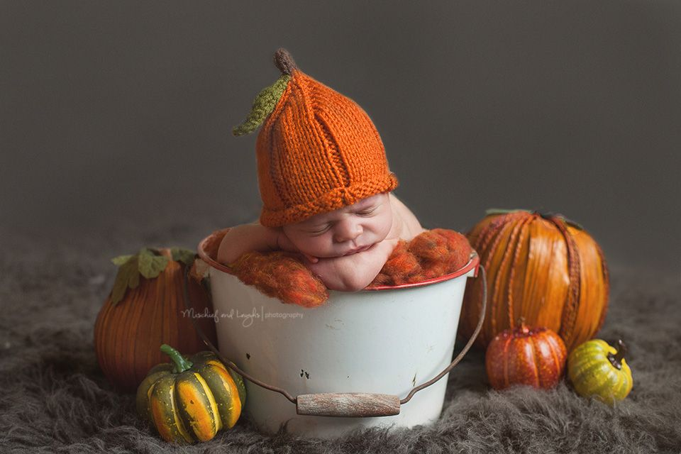 Fall themed newborn pictures cincinnati newborn photographer