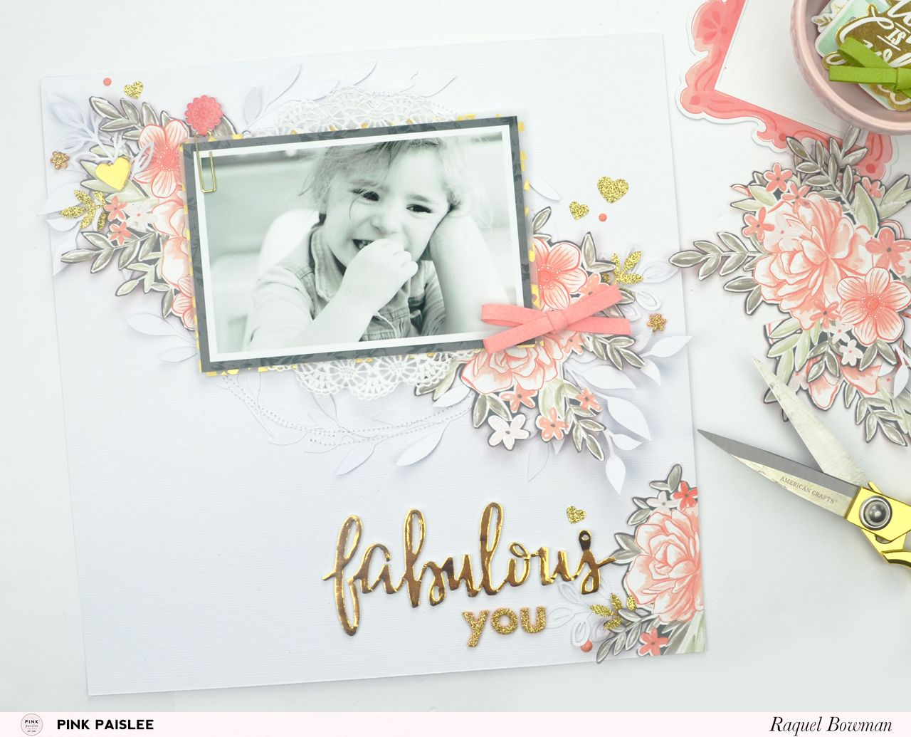 Free for All: Fussy Cutting Frenzy Layout @raquelLbowman @pinkpaislee #pinkpaislee #pptakemeaway #12x12 #layout