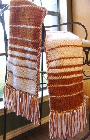 Fabulous Fibonacci Double-Knit Scarf Pattern | Double ...