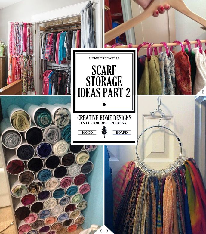 creative ways of how to store scarves organization ideas