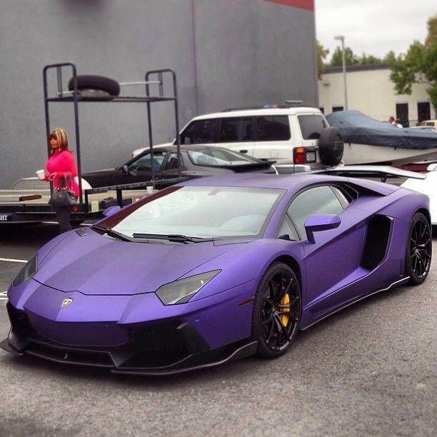 Luxury Car Lamborghini: Purple Lambo Luxury Car